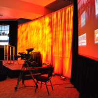 corporate event with camera